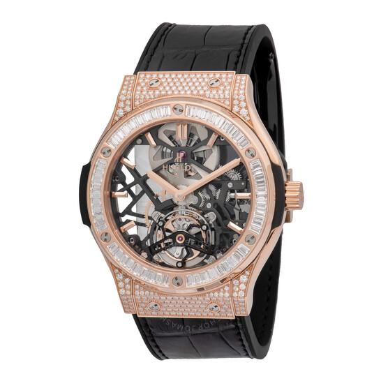 Hublot Classic Fusion Tourbillon 18k King Gold Men's Luxury Watch 505.OX.0180.LR.0904 | Joma Shop