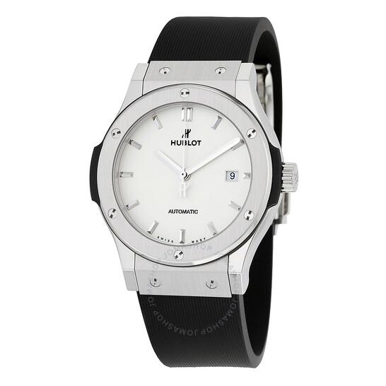 Hublot Classic Fusion Automatic White Dial Black Rubber Men's Watch 542NX2611RX | Joma Shop