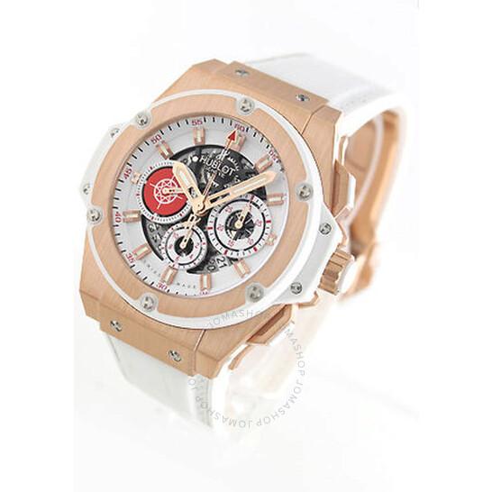 Hublot King Power Costa Smeralda Matte White Chronograph Dial Men's Watch 710OE2123GRPCM12 | Joma Shop