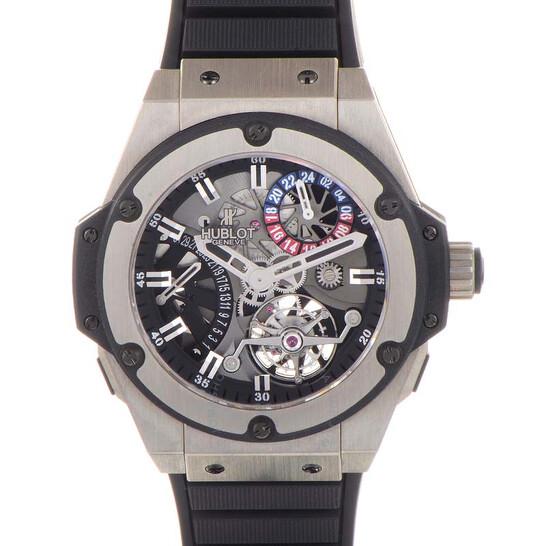 Hublot King Power Tourbillon Silver Dial Zirconium Rubber Strap Men's Watch 706.ZX.1170.RX | Joma Shop