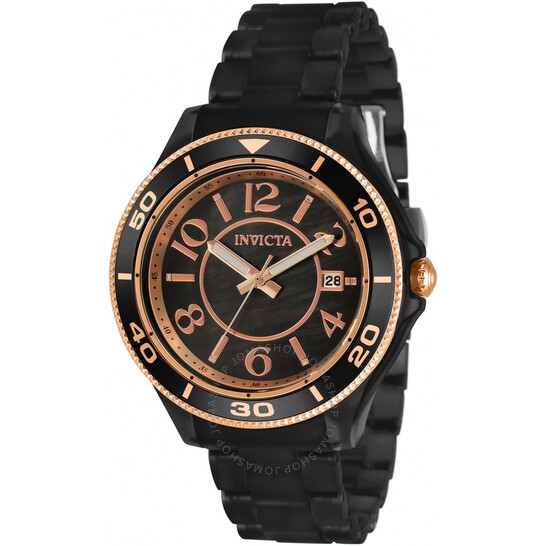 Invicta Anatomic Quartz Black Dial Ladies Watch 30364   Joma Shop