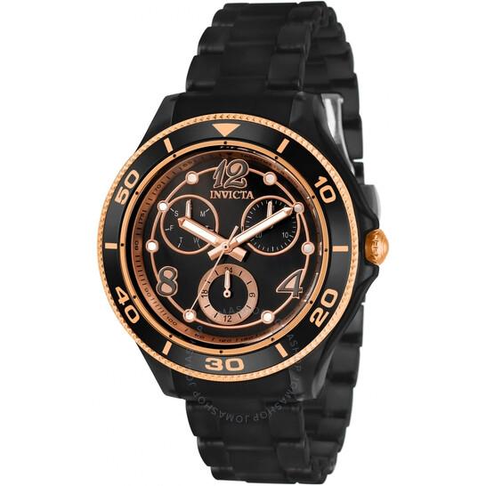 Invicta Anatomic Quartz Black Oyster Dial Ladies Watch 30376 | Joma Shop