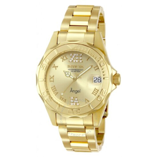 Invicta Angel Champagne Dial 18kt Gold Ion-plated Ladies Watch 14397   Joma Shop