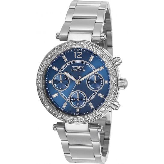 Invicta Angel Chronograph Quartz Crystal Blue Dial Ladies Watch 29923   Joma Shop