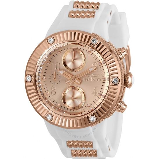 Invicta Angel Chronograph Quartz Crystal Rose Dial Ladies Watch 29516 | Joma Shop