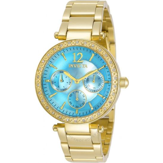 Invicta Angel Quartz Crystal Blue Dial Yellow Gold-tone Ladies Watch 29928   Joma Shop