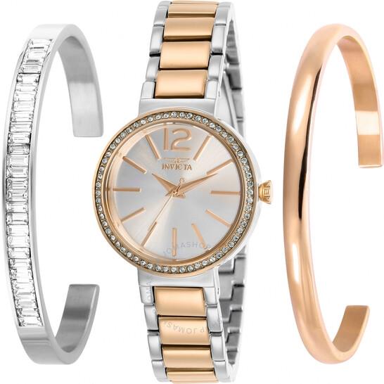Invicta Angel Quartz Crystal Ladies Watch and Bangle Set 29276 | Joma Shop