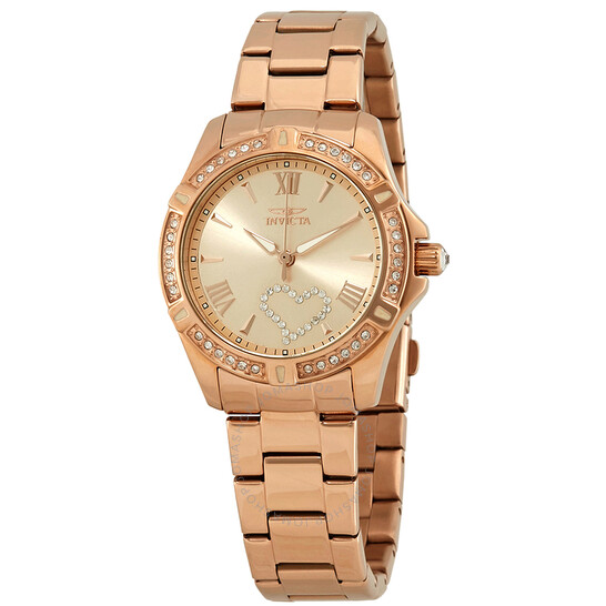 Invicta Angel Crystal Rose Gold Dial Ladies Watch 21417   Joma Shop