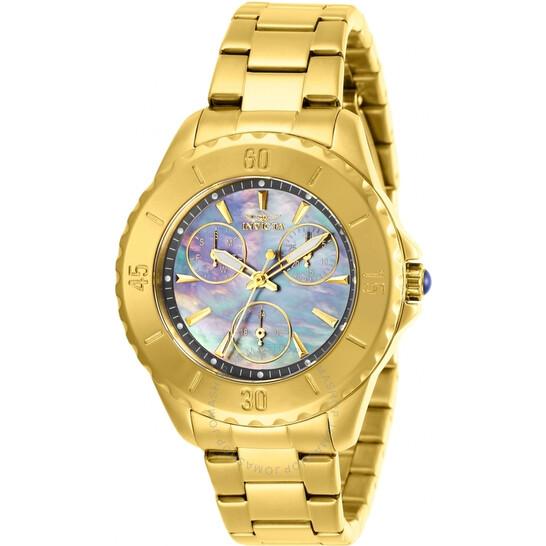 Invicta Angel Quartz Gunmetal Dial Yellow Gold-tone Ladies Watch 29109 | Joma Shop