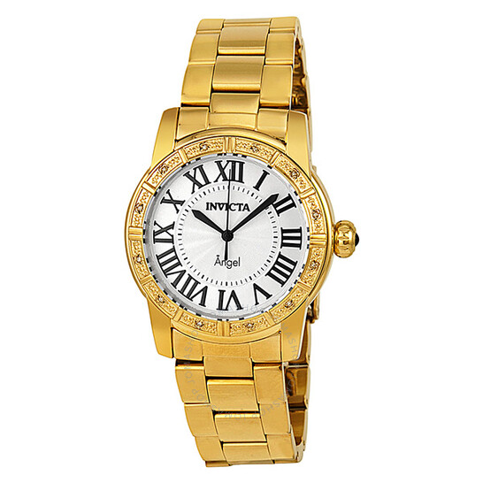 Invicta Angel Silver Dial Gold-tone Ladies Watch14374   Joma Shop
