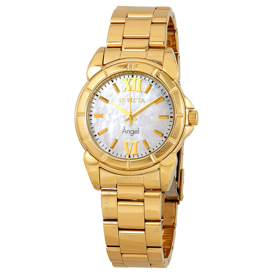 Invicta Angel Mother of Pearl Dial Gold-tone Ladies Watch 0460   Joma Shop