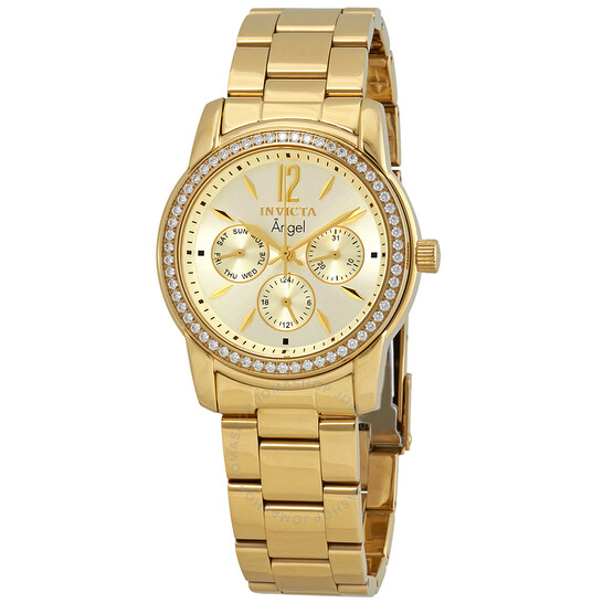 Invicta Angel Multi-Function Champagne Dial Gold-plated Ladies Watch 11770 | Joma Shop