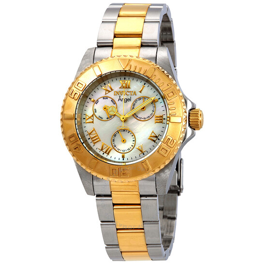 Invicta Angel Multi-Function Mother of Pearl Dial Two-tone Ladies Watch 17526 | Joma Shop