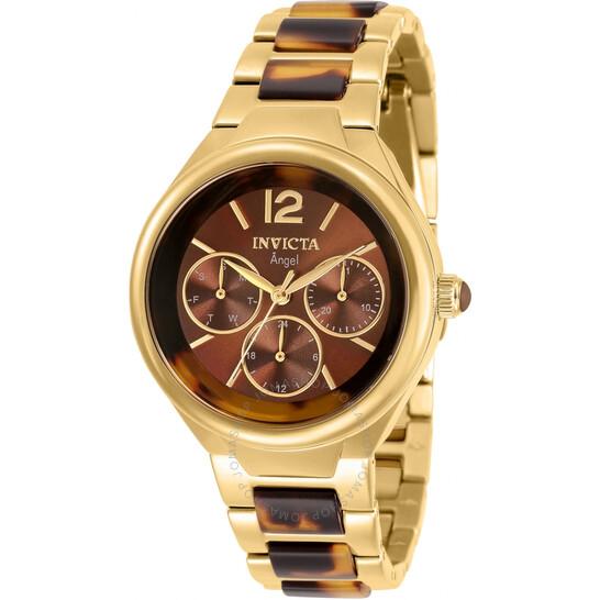 Invicta Angel Quartz Brown Dial Ladies Watch 32069 | Joma Shop