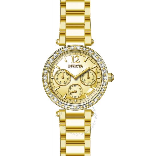 Invicta Angel Quartz Crystal Gold Dial Ladies Watch 29929   Joma Shop