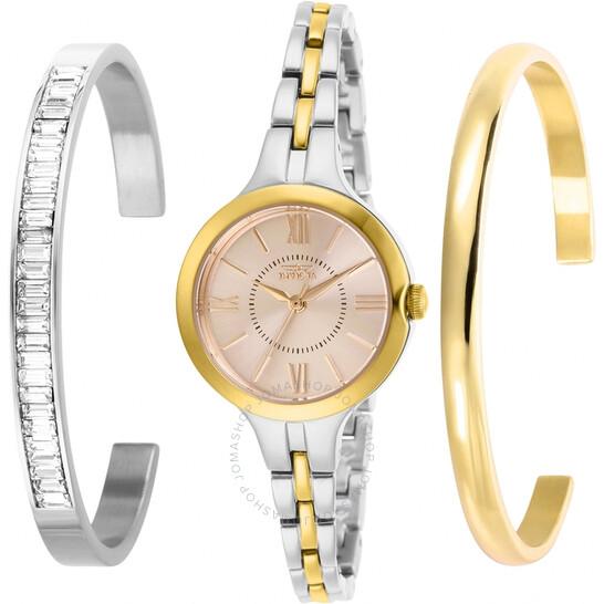 Invicta Angel Quartz Gold Dial Ladies Watch and Bracelet Set 29346   Joma Shop