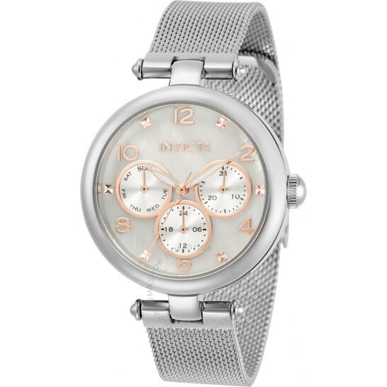 Invicta Angel Quartz White Dial Ladies Watch 31524   Joma Shop