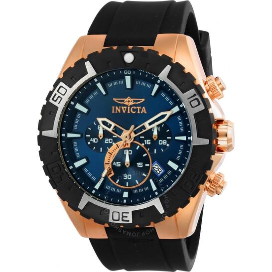 Invicta Aviator Chronograph Blue Dial Men's Watch 22524   Joma Shop
