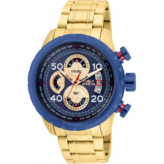 Invicta Aviator Chronograph Quartz Blue Dial Men's Watch 28148   Joma Shop