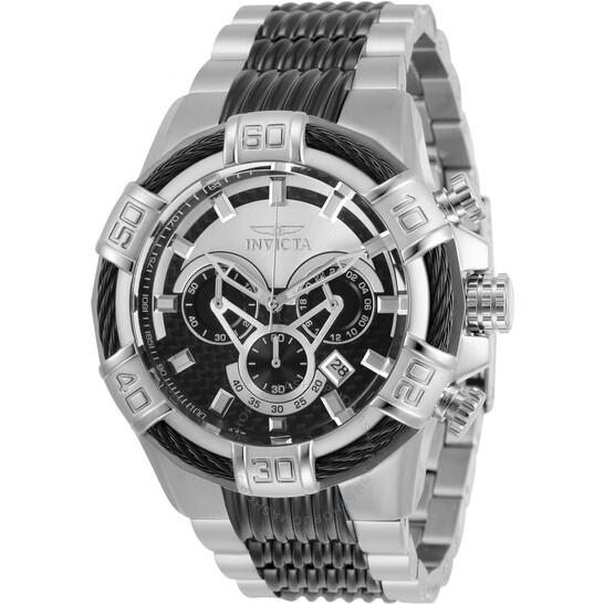 Invicta Bolt Chronograph Quartz Silver and Black Dial Men's Watch 29569   Joma Shop