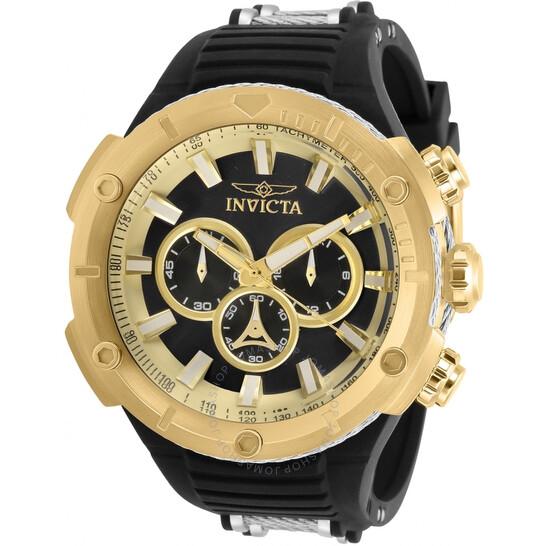 Invicta Bolt Chronograph Quartz Black Dial Men's Watch 29596 | Joma Shop