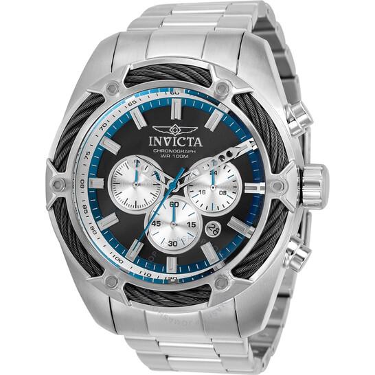 Invicta Bolt Chronograph Quartz Black Dial Men's Watch 31436 | Joma Shop
