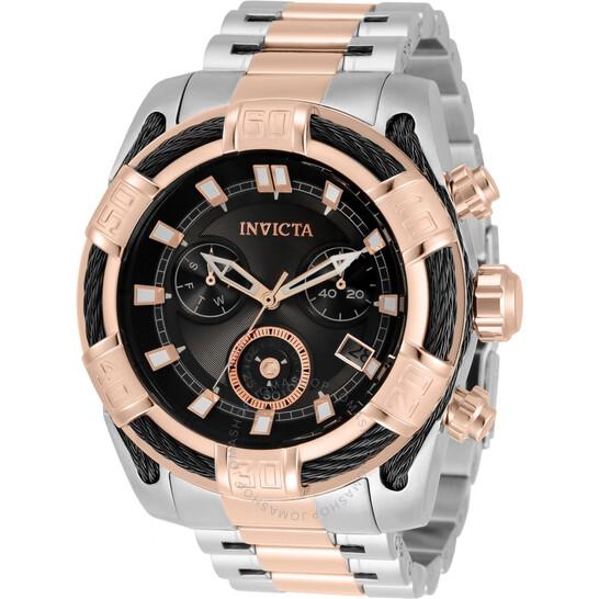 Invicta Bolt Chronograph Quartz Black Dial Men's Watch 33302   Joma Shop