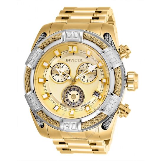 Invicta Bolt Chronograph Quartz Gold Dial Men's Watch 26992 | Joma Shop