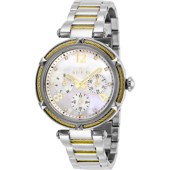 Invicta Bolt Quartz Crystal White Dial Ladies Watch 29135   Joma Shop
