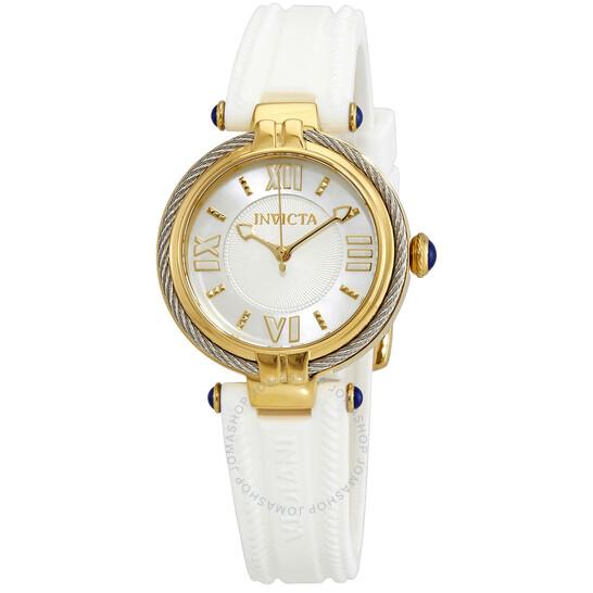 Invicta Bolt Quartz White Dial White Silicone Ladies Watch 29125 | Joma Shop