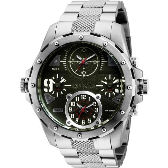 Invicta Coalition Forces Quartz Green Four Time Zone Dial Men's Watch 31147 | Joma Shop