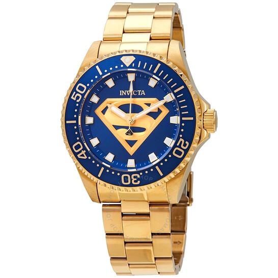 Invicta DC Comics Superman Quartz Blue Dial Men's Watch 29689 | Joma Shop