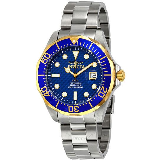 Invicta Grand Diver Blue Carbon Fiber Dial Men's Watch 12566   Joma Shop
