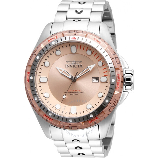 Invicta Hydromax Automatic Rose Dial Stainless Steel Men's Watch 32237 | Joma Shop