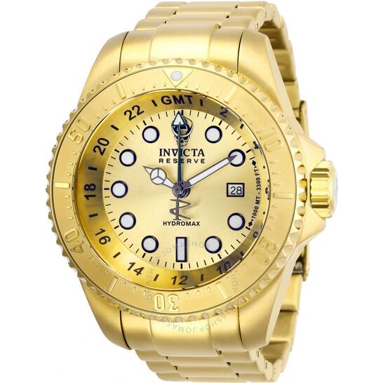 Invicta Hydromax Quartz Gold Dial Men's Watch 29730 | Joma Shop