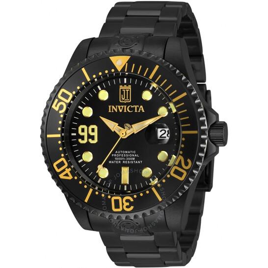 Invicta Jason Taylor Automatic Black Dial Men's Watch 30196   Joma Shop