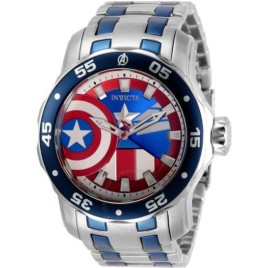 Invicta Marvel Captain America Limited Edition Men's Watch 32413 | Joma Shop