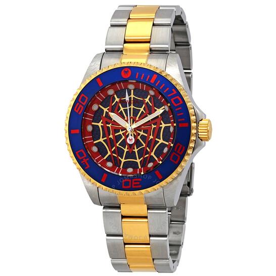 Invicta Marvel Spiderman Quartz Black Dial Men's Watch 29684   Joma Shop