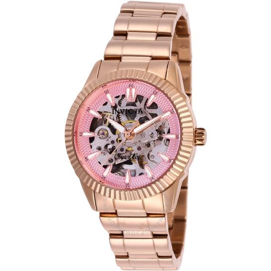 Invicta Objet D Art Automatic Pink Dial Ladies Watch 26365 | Joma Shop