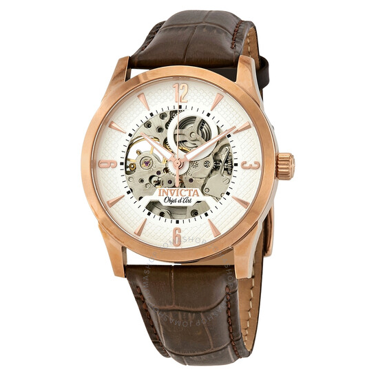 Invicta Objet D Art Automatic White Skeleton Dial Men's Watch 22637   Joma Shop