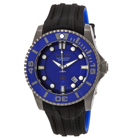 Invicta Pro Diver Automatic Blue Dial Black and Blue Polyurethane Men's Watch 20204   Joma Shop