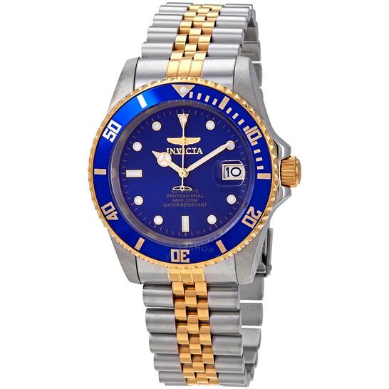 Invicta Pro Diver Automatic Blue Dial Two-tone Men's Watch 29182 | Joma Shop