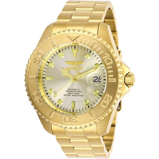 Invicta Pro Diver Automatic Champagne Dial Men's Watch 28950   Joma Shop