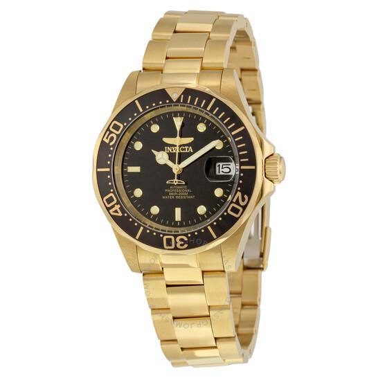 Invicta Pro Diver Automatic Black Dial Gold-plated Men's Watch 8929 | Joma Shop