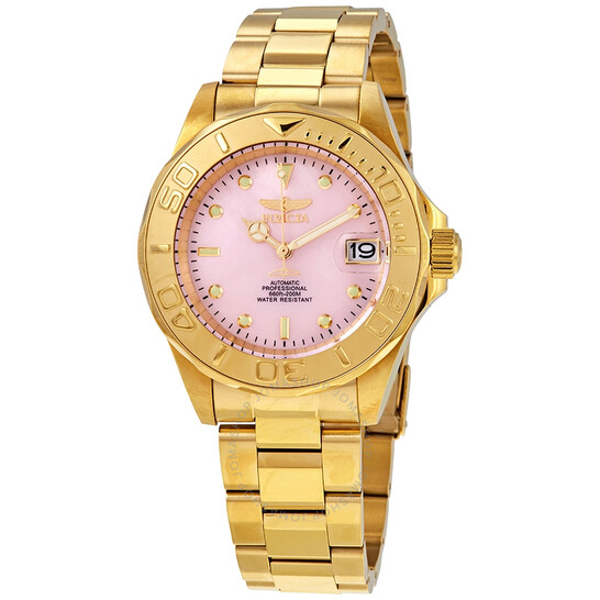 Invicta Pro Diver Automatic Pink Dial Men's Watch 28693 | Joma Shop