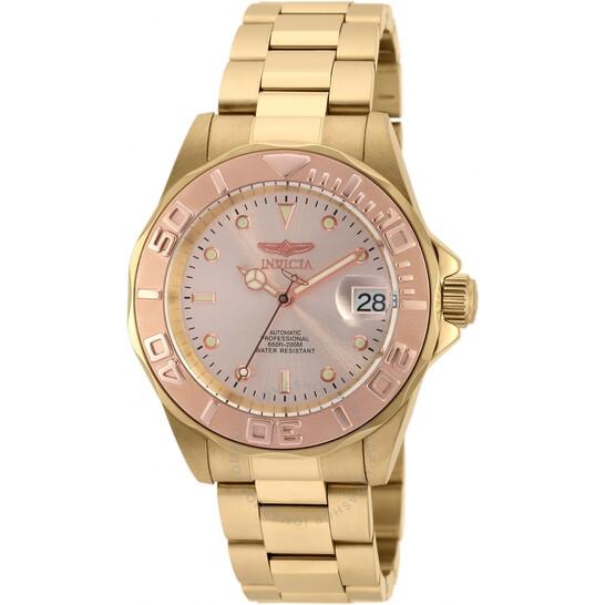 Invicta Pro Diver Automatic Rose Dial Men's Watch 90187   Joma Shop
