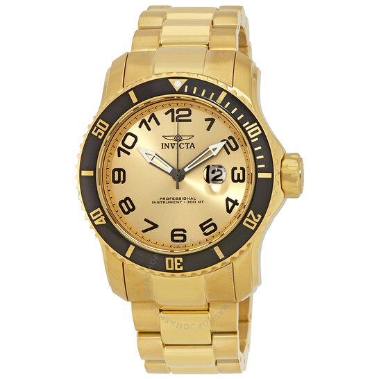 Invicta Pro Diver Champagne Dial Gold-plated Men's Watch 15350   Joma Shop