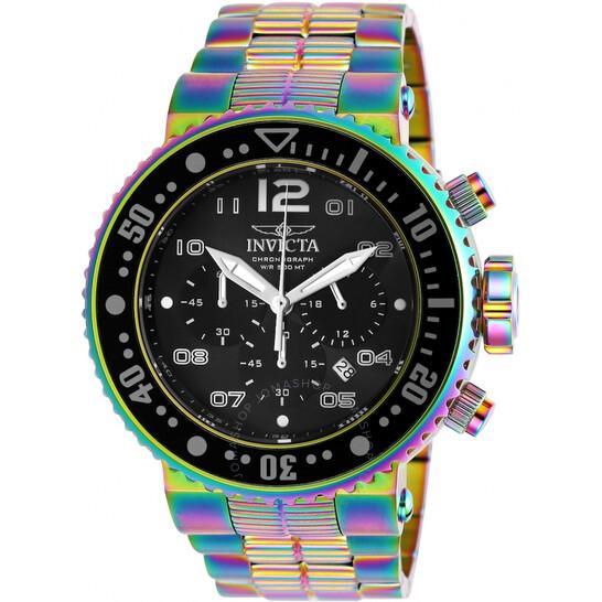 Invicta Pro Diver Chronograph Black Dial Men's Watch 25078   Joma Shop
