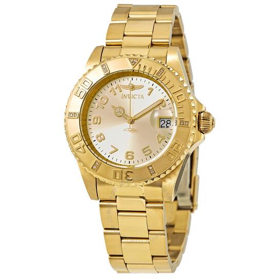 Invicta Pro Diver Gold Dial Ladies Watch 15249   Joma Shop