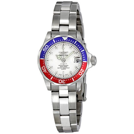 Invicta Pro Diver White Dial Pepsi Bezel Ladies Watch 8940 | Joma Shop